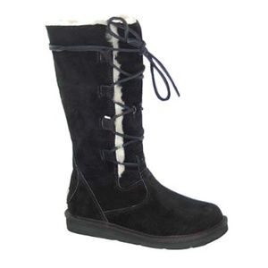 UGG Australia Whitley Lace Up Tall Boots Black 8
